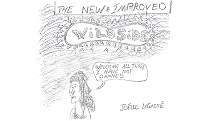 political cartoon, New Improved Wildside, published February 23, 2003