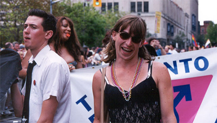 Revellers at the 2003 Toronto Gay Pride Parade, June 30, 2003